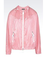 Emporio Armani | Red Blouson Jacket | Lyst