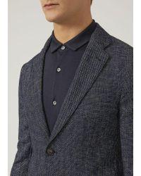 Emporio Armani Blue Casual Jacket for men