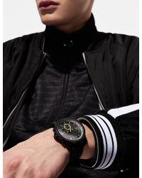 Cronografo con cinturino in silicone nero di Armani Exchange in Black da Uomo