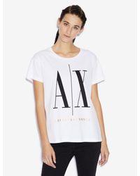 Camiseta Mujer Armani Exchange de color White