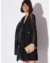 Armani Exchange Black Laser-cut Lace Dress