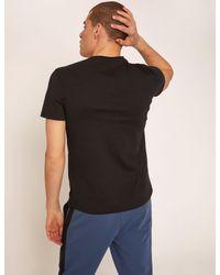 Armani Exchange Blue Slim-fit Embroidered Script Crew for men