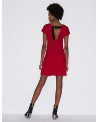 Armani Exchange Red Dress With Rear Lacing