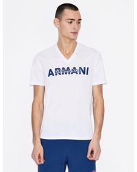 T-shirt con stampa di Armani Exchange in White da Uomo