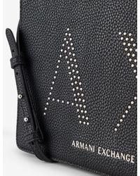 Bolso bandolera con tachuelas Armani Exchange de color Black