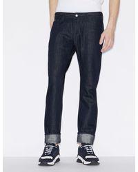 Armani Exchange Blue Slim-fit Five-pocket Jeans for men