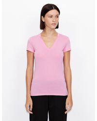 Camiseta monocolor Armani Exchange de color Pink