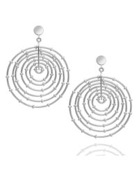 Arme De L'Amour | Metallic 7 Layer Bamboo Hoop Earrings | Lyst