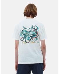 YMC White Squid And Shark T-shirt for men