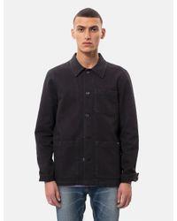 Nudie Jeans Black Nudie Barney Worker Jacket for men