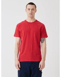 YMC Red Television Raglan T-shirt for men