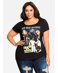 Ashley Stewart Black Naughty Hip Hop Graphic Tee