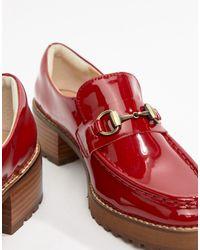Eeight Red E8 by MIISTA – e Loafer mit Absatz aus Lackleder
