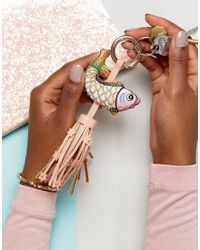 ASOS - Multicolor Felicity The Fish Key Ring With Tassel - Lyst