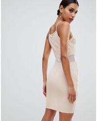 Кружевное Облегающее Платье -кремовый AX Paris, цвет: Natural