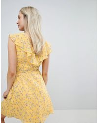 Jack Wills Yellow Hartstop Frill Dress