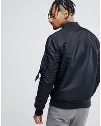 Alpha Industries - Ma-1vflw Bomber Jacket Copper Zip In Black for Men - Lyst