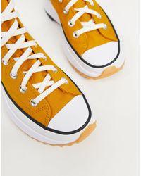 Горчично-желтые Высокие Кроссовки Run Star Hike Hi-желтый Converse, цвет: Yellow