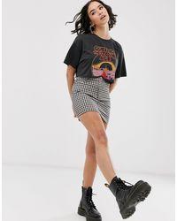 Queens of the Stone Age - T-shirt - délavé Bershka en coloris Gray