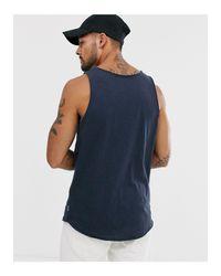 Originals - Débardeur à bords bruts - Bleu marine Jack & Jones pour homme en coloris Blue