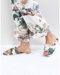 ASOS Multicolor Nicolette Safari Print Slippers