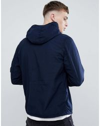BOSS - Blue Hooded Zip Through Jacket In Navy for Men - Lyst