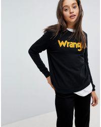 Wrangler Black Sweatshirt With Borg Logo