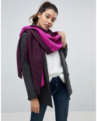River Island Pink Oversized Two Tone Blanket Scarf