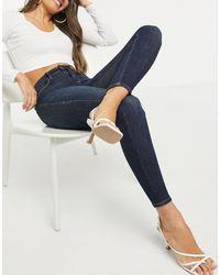 Stradivarius Blue Regular Waist Skinny Jean