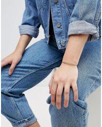 ASOS - Metallic Exclusive Fine Ball Detail Cuff Bracelet - Lyst