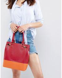 Yoki Fashion - Red Yoki Contrast Panel Tote Bag - Lyst
