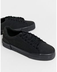 Baskets en imitation daim à semelles épaisses - Noir Bershka pour homme en coloris Black
