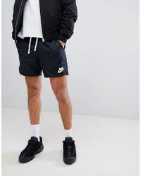 Nike - Black Pantalones cortos de punto en negro 832230-010 de for Men - Lyst