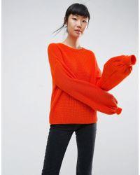 Jersey con manga voluminosa de ASOS ASOS de color Orange
