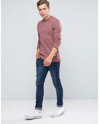 Penfield Red Gering Melange 2tone Sweater for men