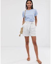 Warehouse White Tailored Shorts