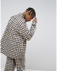 Reclaimed (vintage) Yellow Inspired Oversized Shirt In Flannel Check for men