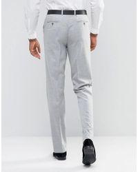 ASOS Asos Tall Slim Smart Pants In Gray for men