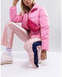 Mi-Pac Fuchsia Pink Bumbag In Velvet