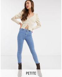 Topshop Unique Blue Joni Skinny Jeans
