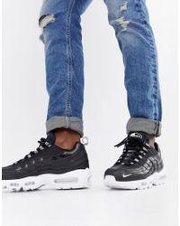 Nike Air Max 95 Premium Trainers In Black 538416-020 for men