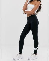 Nike Black – Club – e Leggings mit Swoosh-Logo