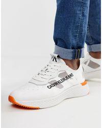 Calvin Klein White Alban Trainers for men