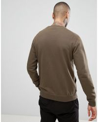 Maharishi Green Sweatshirt In Khaki With Logo for men