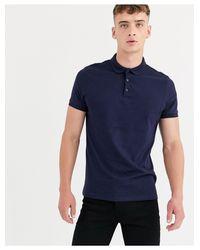 ASOS Blue Jersey Polo for men