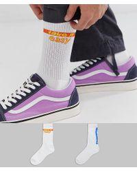"""Confezione da 2 calzini sportivi con scritta """"relax"""" we """"take it easy"""" - Risparmia di ASOS in Multicolor da Uomo"""