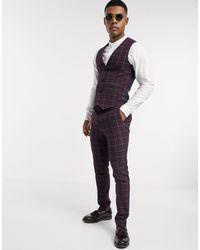 Pantalones ASOS de hombre de color Purple