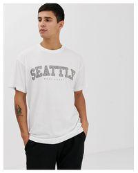 Seattle - T-shirt imprimé New Look pour homme en coloris White
