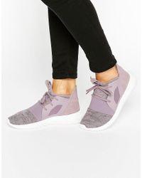 Adidas Purple Originals Lilac Marl Tubular Defiant Trainers