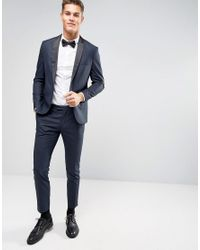 Jack & Jones Blue Premium Slim Tuxedo Jacket for men